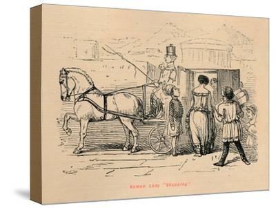 'Roman Lady Shopping', 1852-John Leech-Stretched Canvas Print