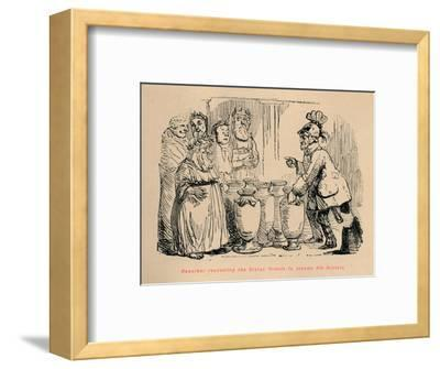 'Hannibal requesting the Cretan Priests to become his Bankers', 1852-John Leech-Framed Giclee Print