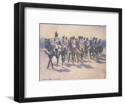 'The Imperial Cadet Corps at the Durbar', 1903-Mortimer L Menpes-Framed Giclee Print