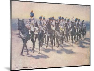 'The Imperial Cadet Corps at the Durbar', 1903-Mortimer L Menpes-Mounted Giclee Print