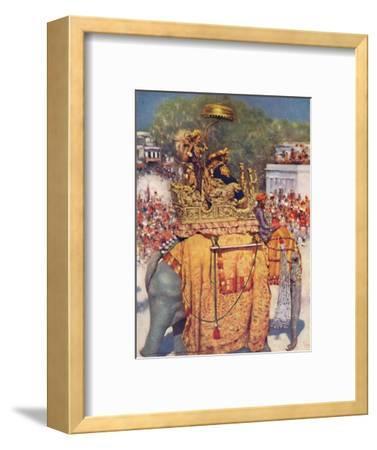 'The State Entry: A Distinguished Maharaja', 1903-Mortimer L Menpes-Framed Giclee Print