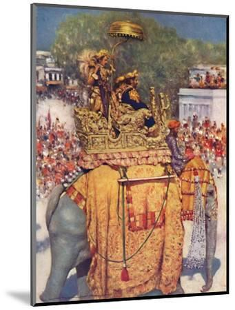 'The State Entry: A Distinguished Maharaja', 1903-Mortimer L Menpes-Mounted Giclee Print