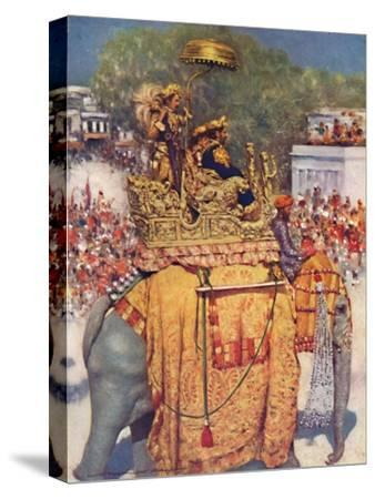 'The State Entry: A Distinguished Maharaja', 1903-Mortimer L Menpes-Stretched Canvas Print