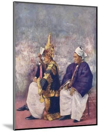 'Shan Chiefs watching the Durbar', 1903-Mortimer L Menpes-Mounted Giclee Print