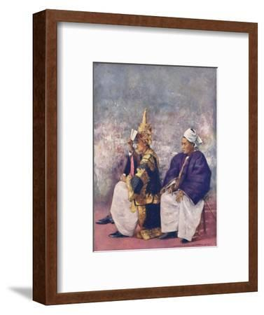 'Shan Chiefs watching the Durbar', 1903-Mortimer L Menpes-Framed Giclee Print