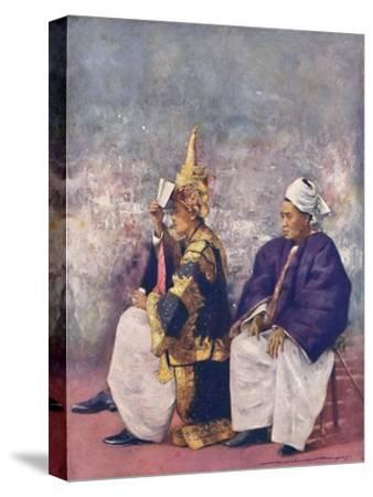 'Shan Chiefs watching the Durbar', 1903-Mortimer L Menpes-Stretched Canvas Print
