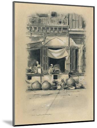 'Bazaar at Delhi', 1903-Mortimer L Menpes-Mounted Giclee Print
