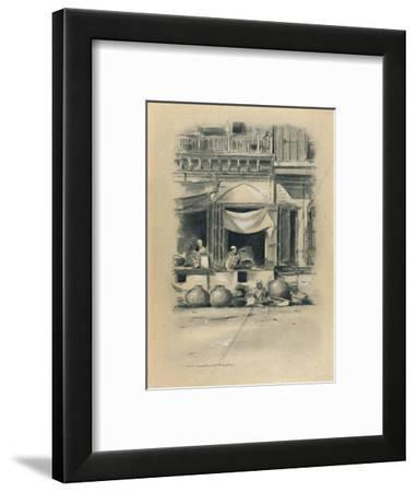 'Bazaar at Delhi', 1903-Mortimer L Menpes-Framed Giclee Print