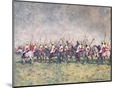 'A Distinguished Native Regiment', 1903-Mortimer L Menpes-Mounted Giclee Print