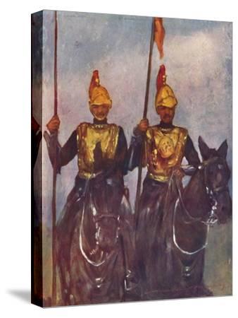 'Bodyguard of His Highness Dogra Sowar Kashmir', 1903-Mortimer L Menpes-Stretched Canvas Print