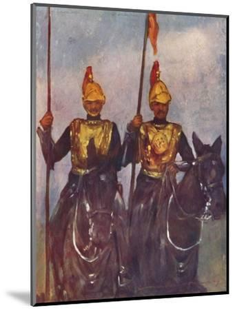 'Bodyguard of His Highness Dogra Sowar Kashmir', 1903-Mortimer L Menpes-Mounted Giclee Print