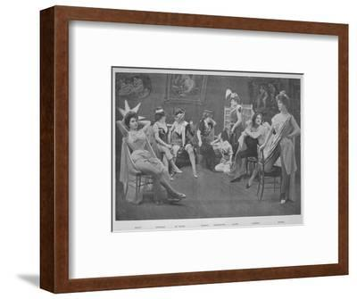 'Le Foyer Des Artistes', 1900-Unknown-Framed Photographic Print