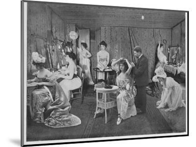 'L'Habillage Dans Les Loges', 1900-Unknown-Mounted Photographic Print