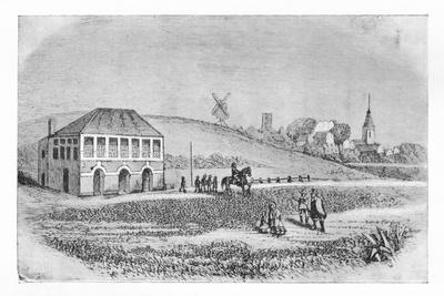 'The First Grand Stand at Newmarket', c1765, (1911)-Unknown-Framed Giclee Print