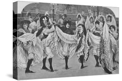 'Le Jardin De Paris - Ou Les Plaisirs De L'Ete', 1900-Unknown-Stretched Canvas Print