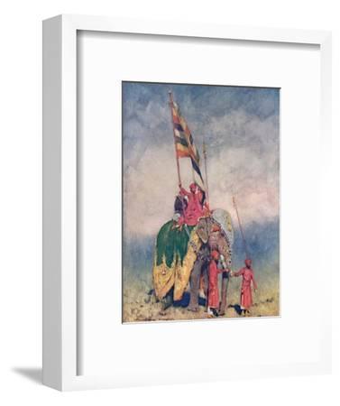 'A Standard-bearer', 1903-Mortimer L Menpes-Framed Giclee Print