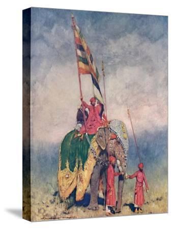 'A Standard-bearer', 1903-Mortimer L Menpes-Stretched Canvas Print