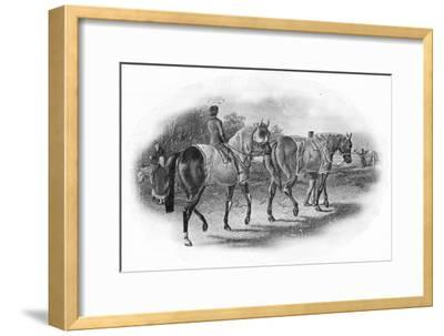 'The Next Race', 19th century, (1911)-Unknown-Framed Giclee Print