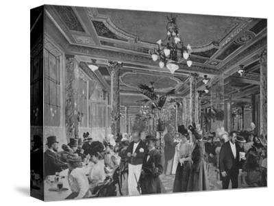 'La Grande Salle Du Cafe Americain', 1900-Unknown-Stretched Canvas Print