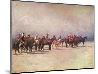 'Viceroy reviewing the Troops', 1903-Mortimer L Menpes-Mounted Giclee Print
