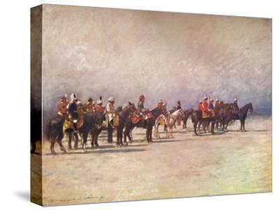 'Viceroy reviewing the Troops', 1903-Mortimer L Menpes-Stretched Canvas Print
