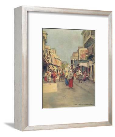 'A Side Street in Agra', 1905-Mortimer Luddington Menpes-Framed Giclee Print