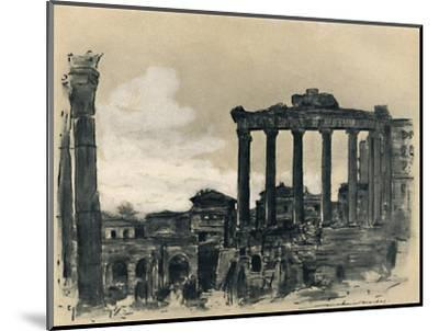 'Remains of Ancient Rome', 1903-Mortimer L Menpes-Mounted Giclee Print