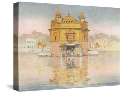 'The Golden Temple, Amritsar', 1905-Mortimer Luddington Menpes-Stretched Canvas Print