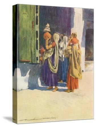 'Water-carriers at Nutha', 1905-Mortimer Luddington Menpes-Stretched Canvas Print