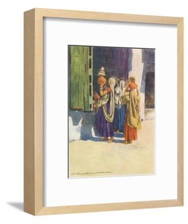 'Water-carriers at Nutha', 1905-Mortimer Luddington Menpes-Framed Giclee Print