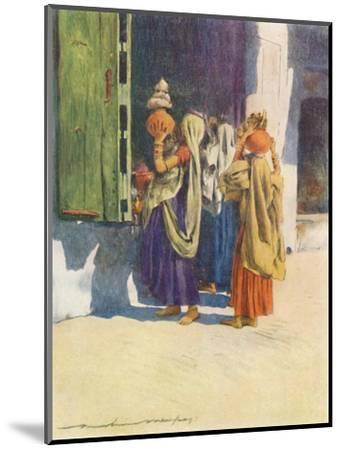 'Water-carriers at Nutha', 1905-Mortimer Luddington Menpes-Mounted Giclee Print