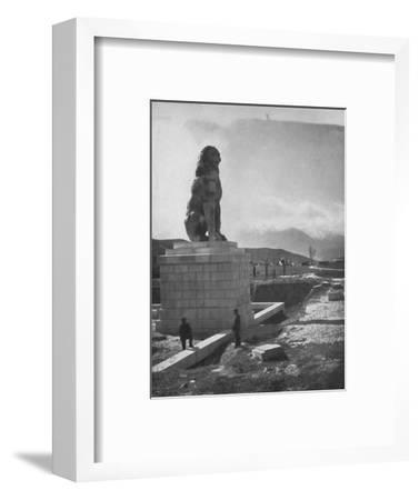 'The Lion of Chaeronea, the Acropolis and Mount Parnassus', 1913-Unknown-Framed Photographic Print