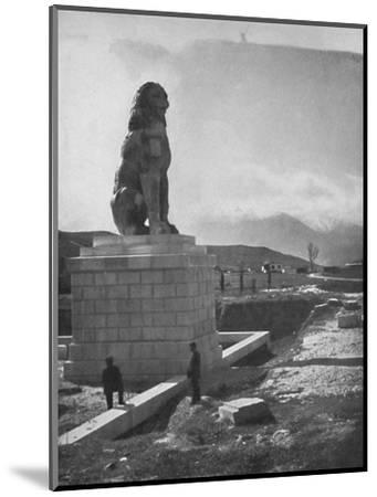 'The Lion of Chaeronea, the Acropolis and Mount Parnassus', 1913-Unknown-Mounted Photographic Print