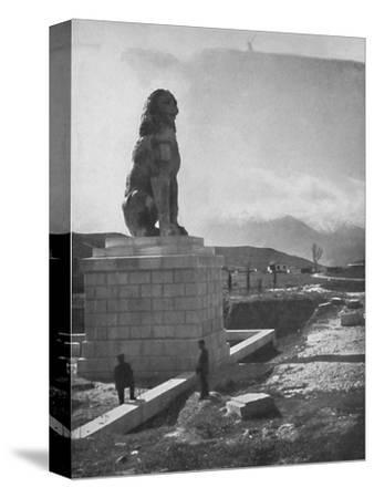'The Lion of Chaeronea, the Acropolis and Mount Parnassus', 1913-Unknown-Stretched Canvas Print