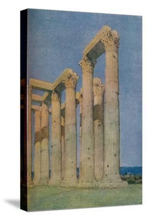 'The Temple of the Olympian Zeus at Athens', 1913-Unknown-Stretched Canvas Print