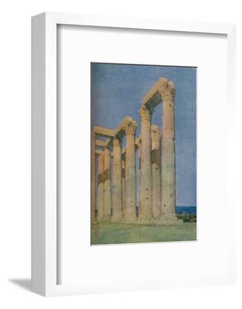 'The Temple of the Olympian Zeus at Athens', 1913-Unknown-Framed Photographic Print