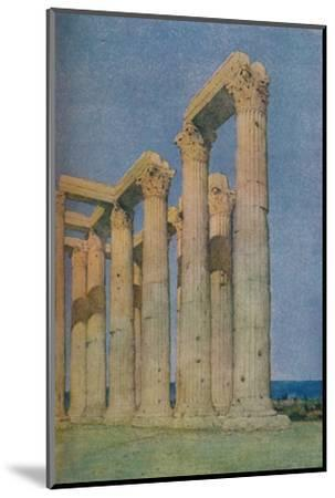 'The Temple of the Olympian Zeus at Athens', 1913-Unknown-Mounted Photographic Print