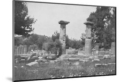 'The Temple of Hera at Olympia', 1913-Unknown-Mounted Photographic Print