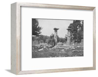 'The Temple of Hera at Olympia', 1913-Unknown-Framed Photographic Print