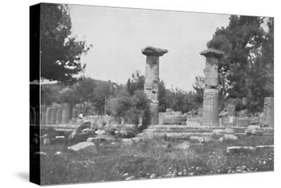 'The Temple of Hera at Olympia', 1913-Unknown-Stretched Canvas Print