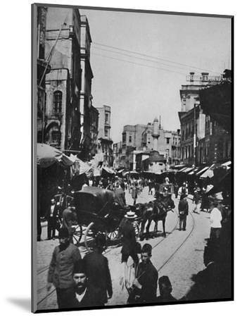 'Street Scene in Constantinople', 1913-Unknown-Mounted Photographic Print