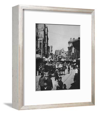 'Street Scene in Constantinople', 1913-Unknown-Framed Photographic Print