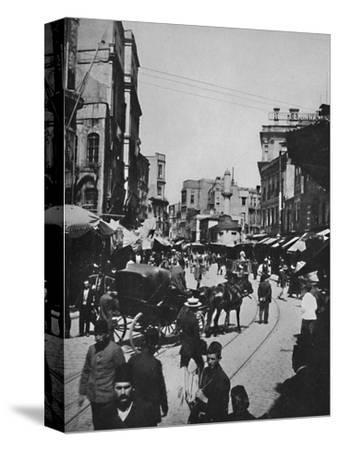 'Street Scene in Constantinople', 1913-Unknown-Stretched Canvas Print