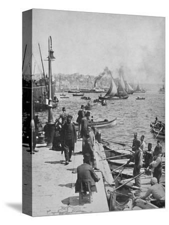 'The Water-front of Stamboul, with Pera in the distance', 1913-Unknown-Stretched Canvas Print