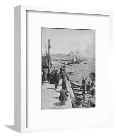 'The Water-front of Stamboul, with Pera in the distance', 1913-Unknown-Framed Photographic Print