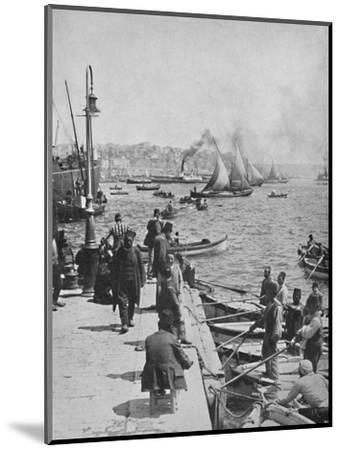 'The Water-front of Stamboul, with Pera in the distance', 1913-Unknown-Mounted Photographic Print
