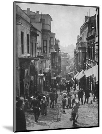 'Looking down Step Street, Constantinople', 1913-Unknown-Mounted Photographic Print