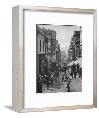 'Looking down Step Street, Constantinople', 1913-Unknown-Framed Photographic Print