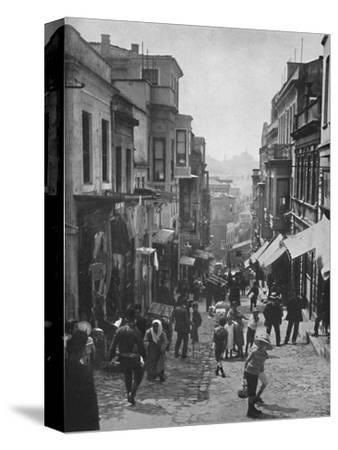 'Looking down Step Street, Constantinople', 1913-Unknown-Stretched Canvas Print