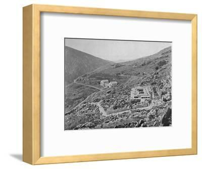 'Delphi - Gulf of Corinth in the distance', 1913-Unknown-Framed Photographic Print
